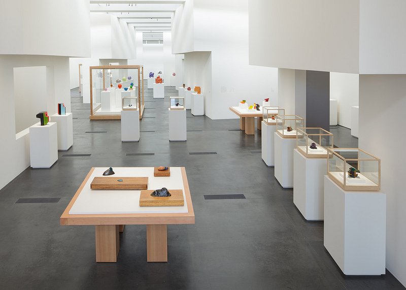 Installation view: Ken Price Sculpture, LACMA, 2013