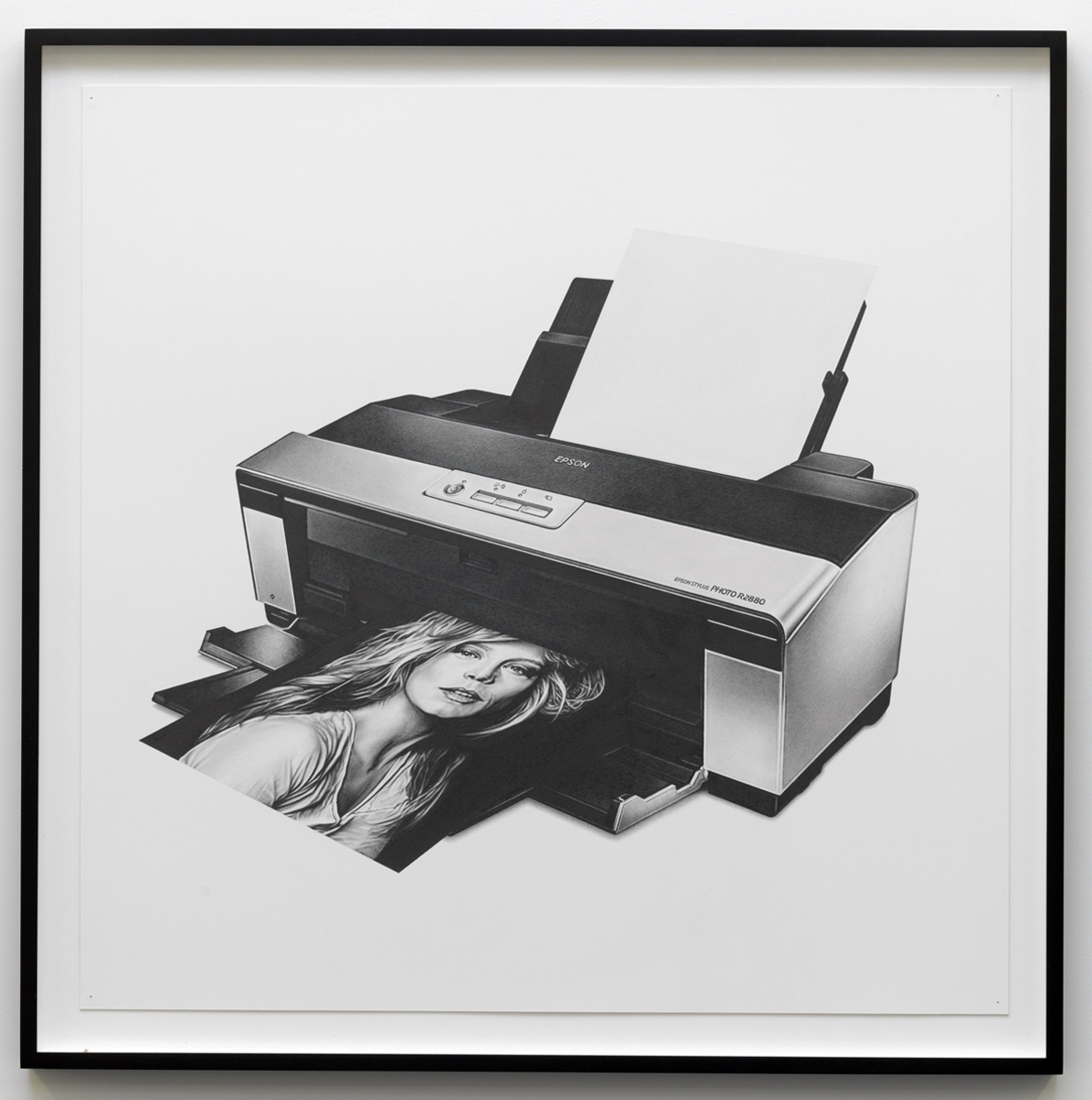 Mathew Cerletty Epson, 2009 graphite on paper 76,2 x 76,2 x 2,54 cm